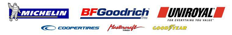 We carry products from Michelin®, BFGoodrich®, Uniroyal®, Cooper, Mastercraft, and Goodyear.
