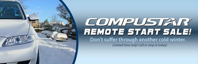 Compustar Remote Start Sale: Call or stop in today for details.