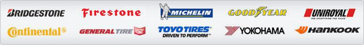 We carry products from Bridgestone, Firestone, Michelin®, Goodyear, Uniroyal®, Continental, General Tire, Toyo Tires, Yokohama, and Hankook.