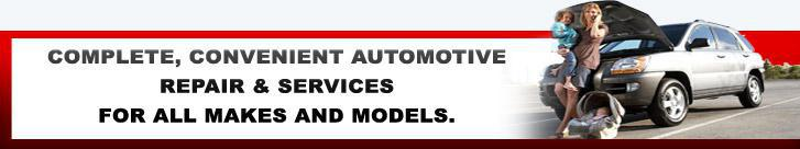 Complete, convenient automotive repair & services for all makes and models.