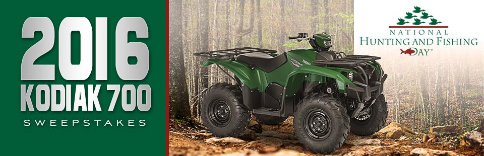 2016 Yamaha Kodiak 700 Sweepstakes: Click here for details.