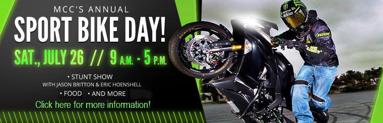 MCC's Annual Sport Bike Day: July 26