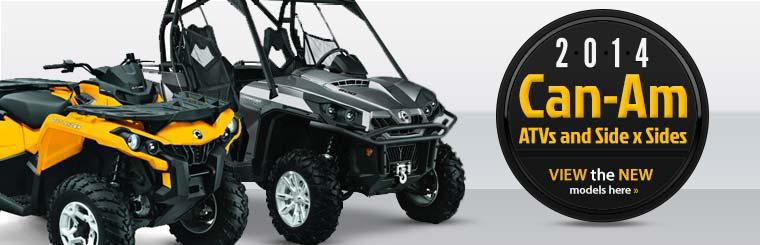 2014 Can-Am ATVs and Side x Sides: Click here to view the new models.
