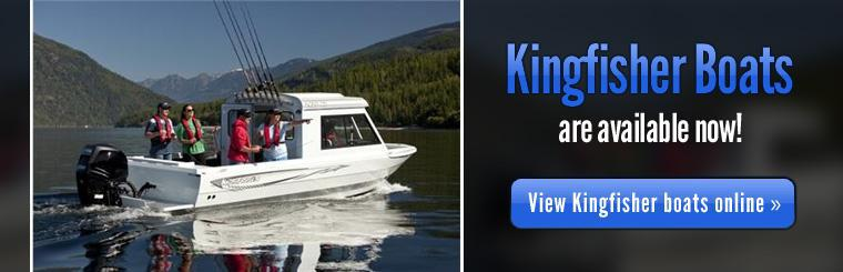 Kingfisher boats are available now. Click here to view them in our online showcase.