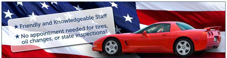 Greg's Tire Center is staffed by friendly and knowledgeable staff. No appointment needed for tires, oil changes, or state inspections!