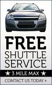Free Shuttle Service - 3 mile max - Contact us today!