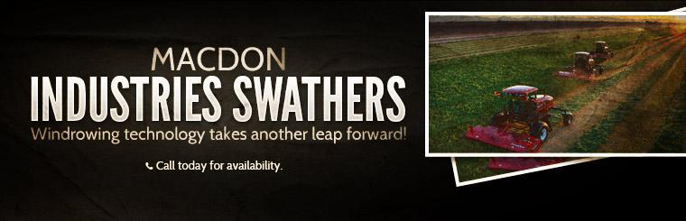 Windrowing technology takes another leap forward with MacDon Industries Swathers! Call today for availability.
