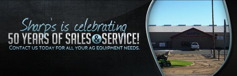 Sharp's is celebrating 50 years of sales and service! Contact us today for all your ag equipment needs. Click here to view our map.