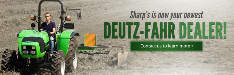 Sharp's is now your newest DEUTZ-FAHR dealer! Contact us to learn more.