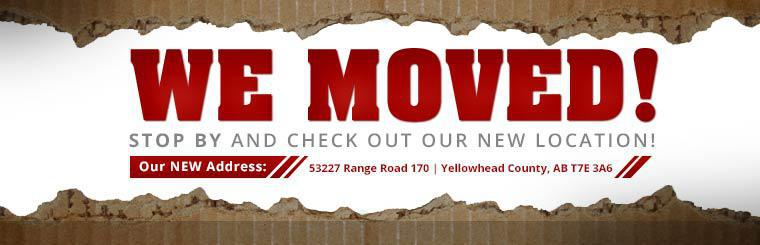 We moved! Check out our new location at 53227 Range Road 170 in Yellowhead County, AB.