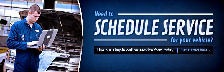 Need to schedule service for your vehicle? Use our simple online service form today! Click here to get started.