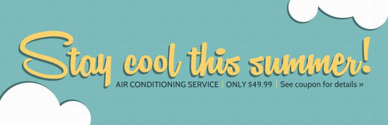 Wright Tire Service in Anoka, MN wants you to stay cool this summer. Air conditioning service is only $49.99! Click here for details.