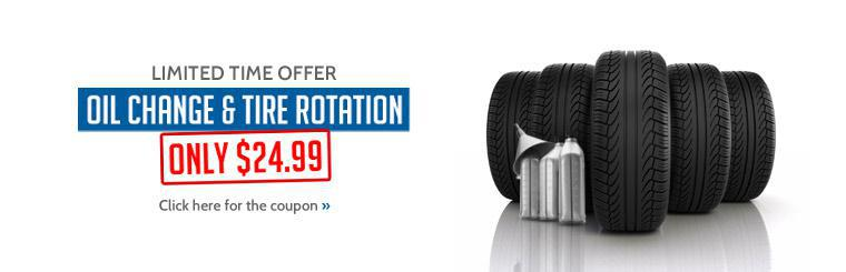 Get an oil change and a tire rotation for just $24.99 at Wright Tire Service! Click here to print the coupon.