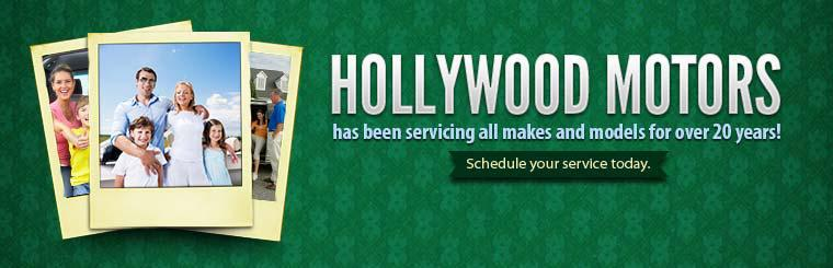 Hollywood Motors has been servicing all makes and models for over 20 years! Schedule your service today.