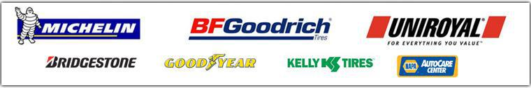We proudly offer products from: Michelin®, BFGoodrich®, Uniroyal®, Bridgestone, Goodyear, and Kelly. We are a Napa Auto Care Center.