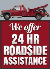 We offer 24 hr Roadside Assistance