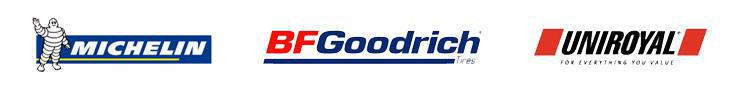 We offer products from Michelin®, BFGoodrich®, and Uniroyal®.