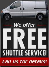 We offer free Shuttle Service! Call us for details!