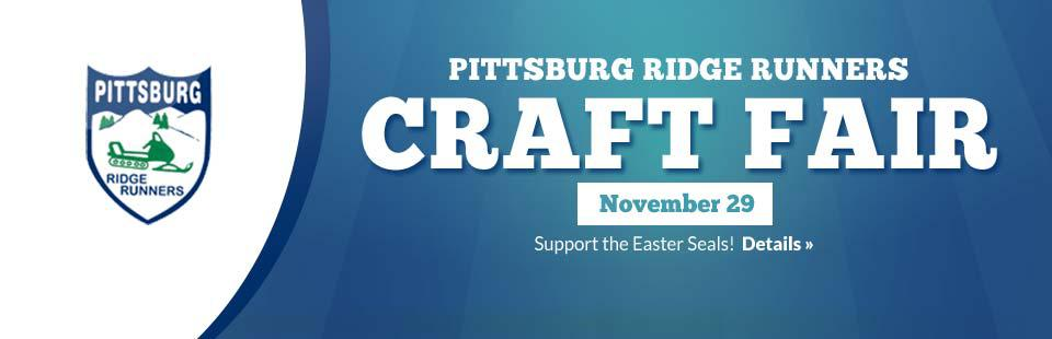 Join us November 29 for the Pittsburg Ridge Runners Craft Fair! Click here for details.