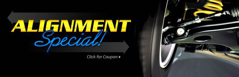 Alignment Special: Click here to print the coupon.