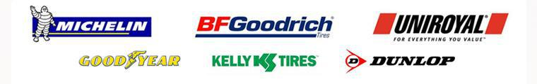 We carry products from Michelin®, BFGoodrich®, Uniroyal®, Goodyear, Kelly, and Dunlop.
