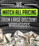 We match all pricing from large discount warehouses.