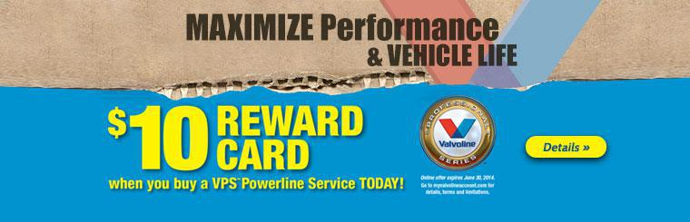 Get a $10 Reward Card when you buy a VPS Powerline Service! Click here for details.