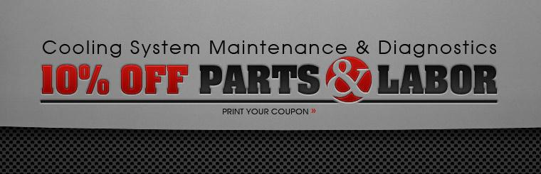 Cooling System Maintenance & Diagnostics, Get 10% Off