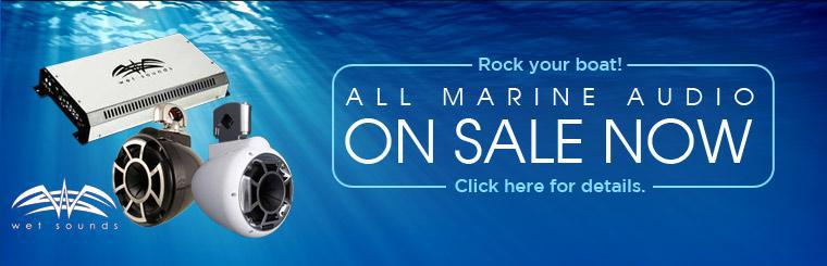 All marine audio is on sale now! Click here for details.
