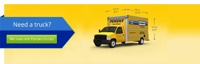 We now rent Penske trucks!