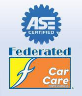 We are a NAPA AutoCare Center and a Federated Car Care Center.