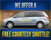 We offer a free courtesy shuttle!