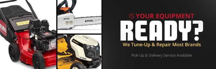 We tune-up and repair most brands, plus we offer pick-up and delivery service!
