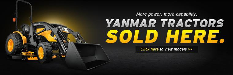 More power, more capability. Yanmar Tractors are sold here. Click here to view the models.