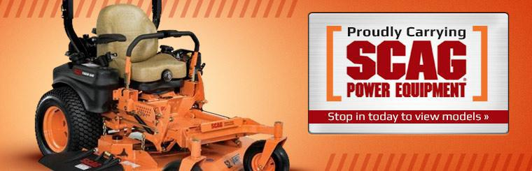 We proudly carry Scag Power Equipment. Stop in today to view the models.