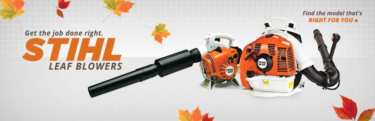 STIHL Leaf Blowers: Click here to find the model that's right for you.