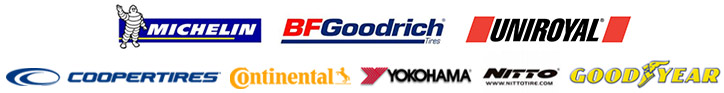 We carry products from Michelin®, BFGoodrich®, Uniroyal®, Cooper, Continental, Yokohama, Nitto, and Goodyear.