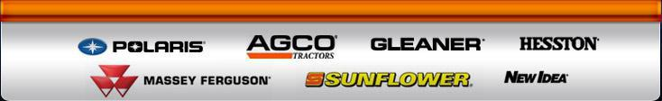 We carry products from Polaris, AGCO, Gleaner, Hesston, Massey Ferguson, Sunflower, and New Idea.
