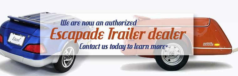 We are now an authorized Escapade Trailer dealer. Contact us today to learn more.