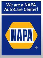 We are a NAPA AutoCare Center.