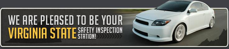 We are pleased to be your Virginia State Safety Inspection Station!