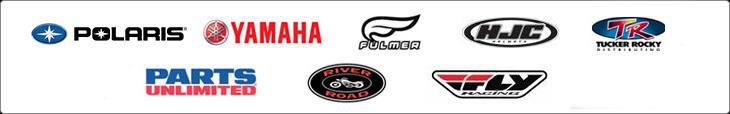 We proudly feature products from Polaris, Yamaha, Fulmer, HJC, Tucker Rocky, Parts Unlimited, and River Road.
