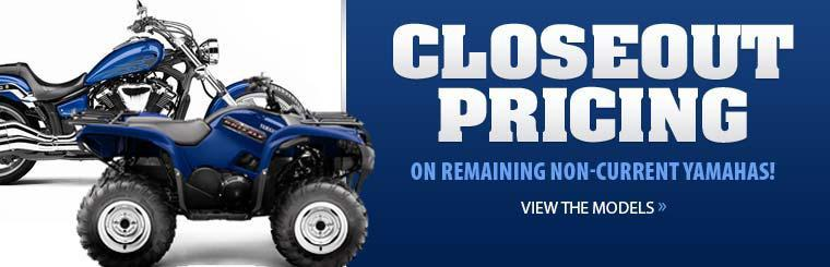 Take advantage of closeout pricing on remaining non-current Yamahas! Click here to view the models.