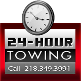 24-Hour Towing: Call (218) 349-3991.