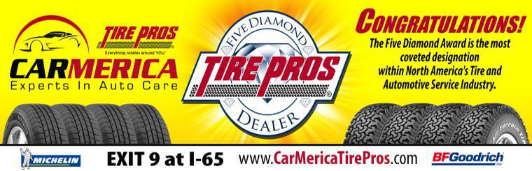 Congratulations Carmerica Tire Pros - Five Diamond award winner!