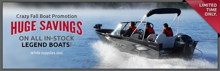 Crazy Fall Boat Promotion: Take advantage of huge savings on all in-stock Legend boats!