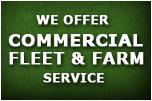 We offer commercial fleet and farm service.