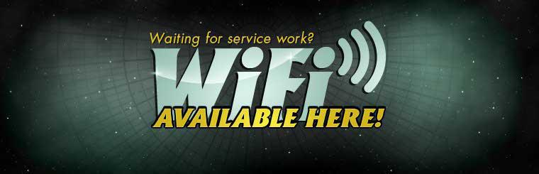 WiFi is available here! Contact us for information.