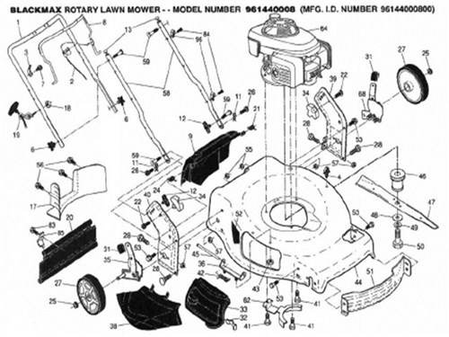 Black Max Lawn Mower Parts For Model 961440008 For Sale In Oklahoma
