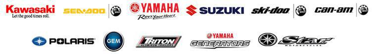 We carry products from Kawasaki, Sea-Doo, Yamaha, Suzuki, Ski-Doo, Can-Am, Polaris, GEM, Triton Trailers, Yamaha Generators, and Star Motorcycles.